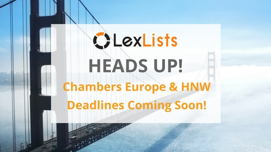 Chambers Europe HNW Deadline
