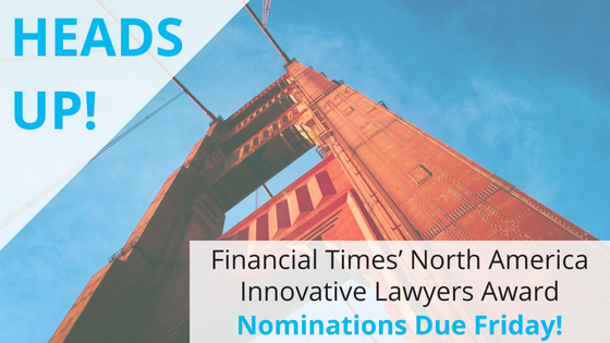 LexLists HEADS UP: Due Friday! Financial Times' North America