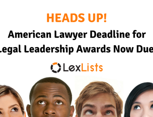 Nominations for Two American Lawyer Awards Due this Month