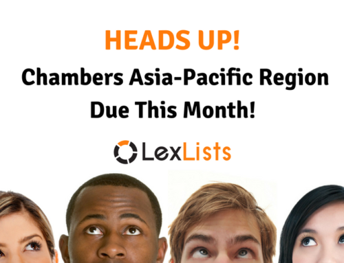 Submissions for Chambers Asia-Pacific Due Soon!