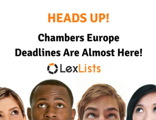 Chambers Europe-wide Due Soon!