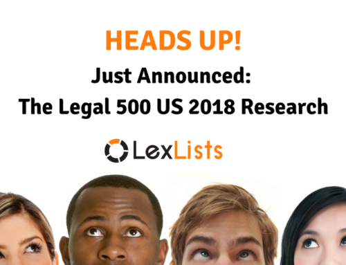 Just Announced: The Legal 500 US 2018 Deadlines