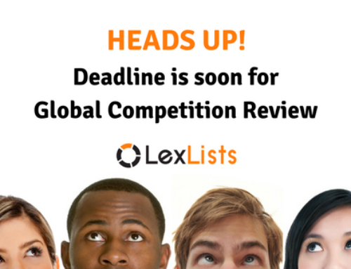 Deadline extended: Global Competition Review awards