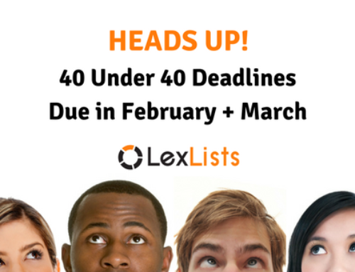 40 Under 40 Deadlines Soon: Houston, Charlotte, Fort Worth, Columbus and more